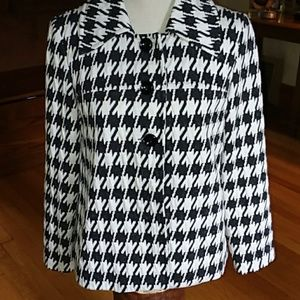 Pinky& Dianne Jackets & Coats - PINKY & DIANNE houndstooth lined jacket Small🌼